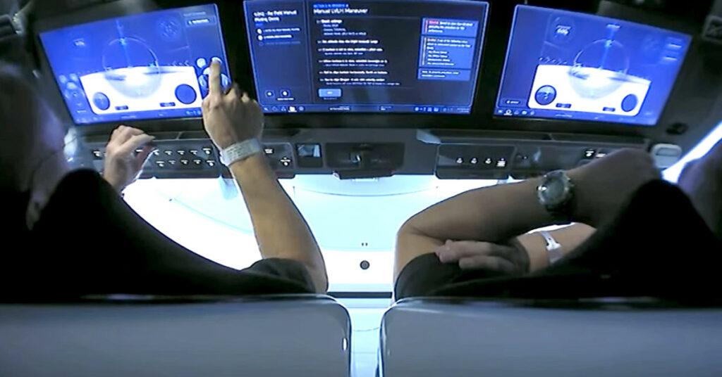 crew dragon javascript-based touchscreens
