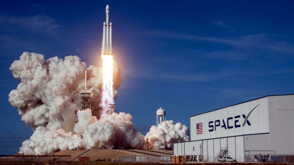spacex rocket with javascript touchscreens