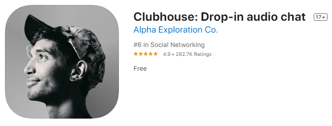 Clubhouse Social Network - the App Screenshot
