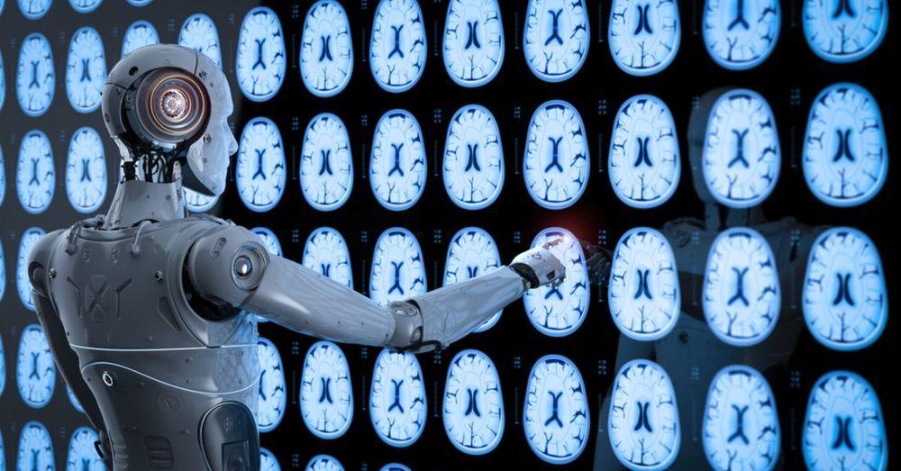 Machine Learning Tumor Detection (illustration)